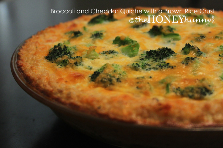 ... Blog - Broccoli and Cheddar Quiche with a Brown Rice Crust