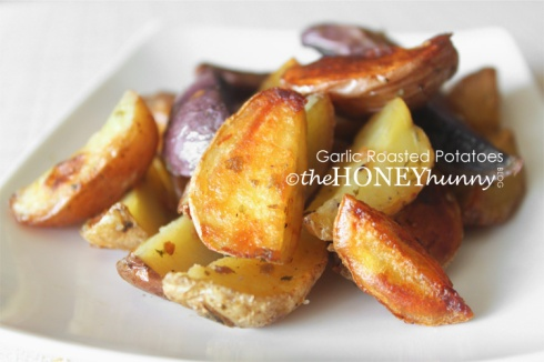 theHONEYhunny Blog - Garlic Roasted Potatoes