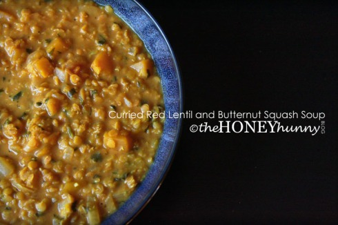 theHONEYhunny Blog - Curried Red Lentil and Butternut Squash Soup