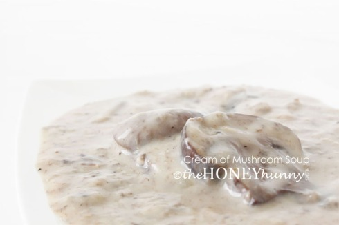theHONEYhunny Blog - Cream of Mushroom Soup2